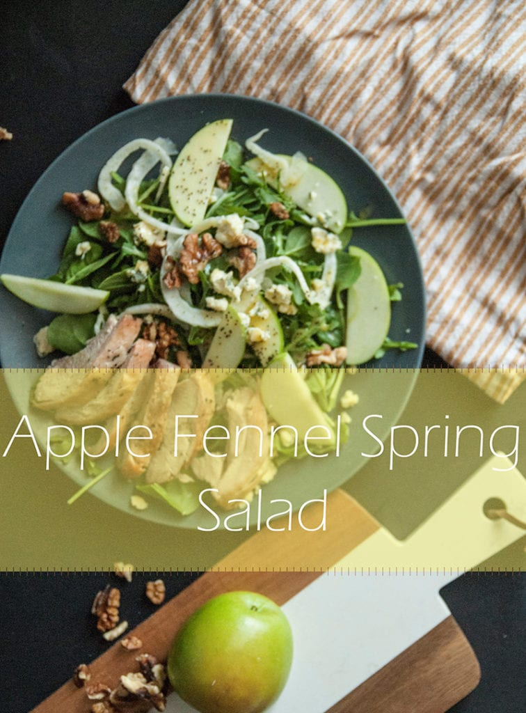Apple Fennel Spring Salad- This Light Refreshing Salad is perfect for Spring! Click for recipe!