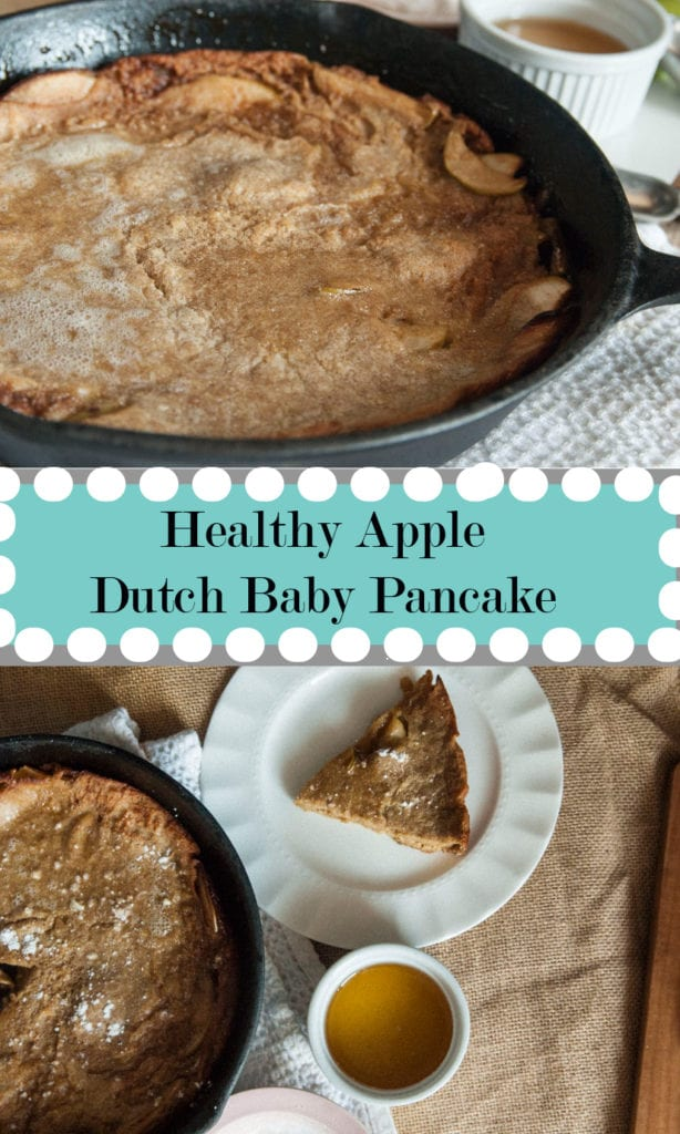 Healthy Apple Dutch Baby Pancakes- The Seasonal Junkie