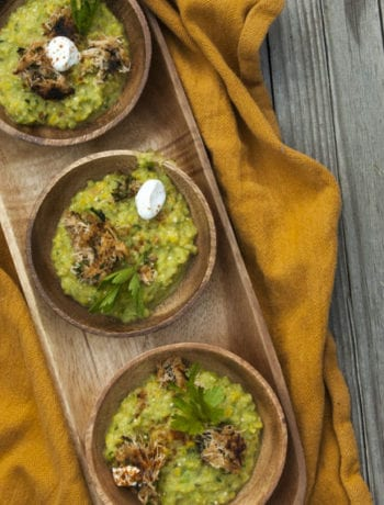 Avocado Tomatillo Gazpacho- The Seasonal Junkie