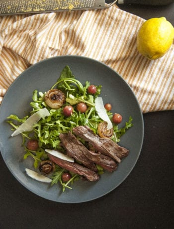 Thyme Roasted Grape Steak Salad-The Seasonal Junkie