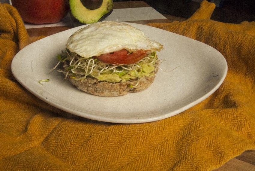 Easy Breakfast Sandwich- The Seasonal Junkie