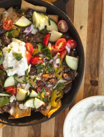 Greek Nachos- The Seasonal Junkie