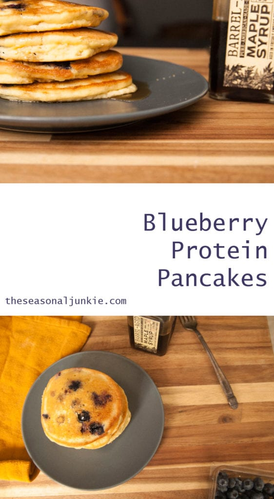 Blueberry Protein Pancakes-The Seasonal Junkie