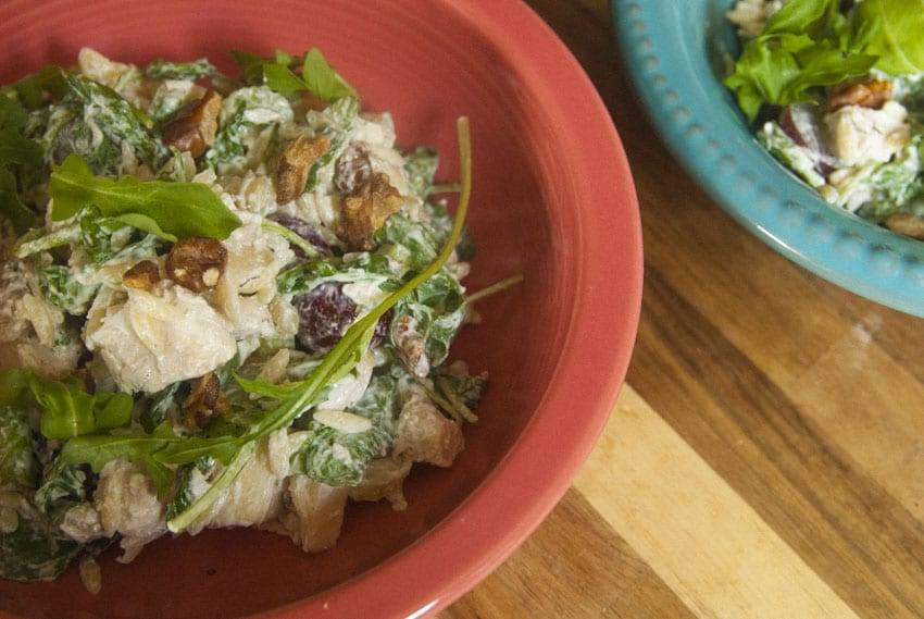 Chicken Waldorf Orzo Pasta Salad- The Seasonal Junkie