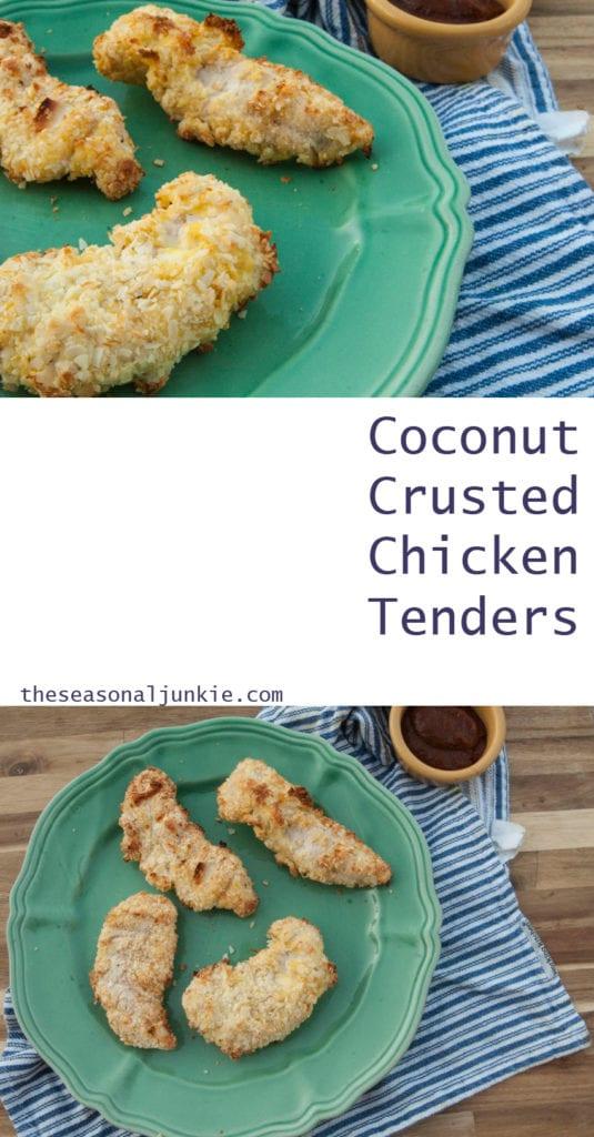 Coconut Crusted Chicken Tenders-The Seasonal Junkie