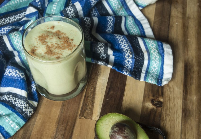 Horchata Smoothie with Avocado- The Seasonal Junkie