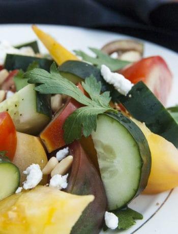 Summer Heirloom Tomato Salad- The Seasonal Junkie