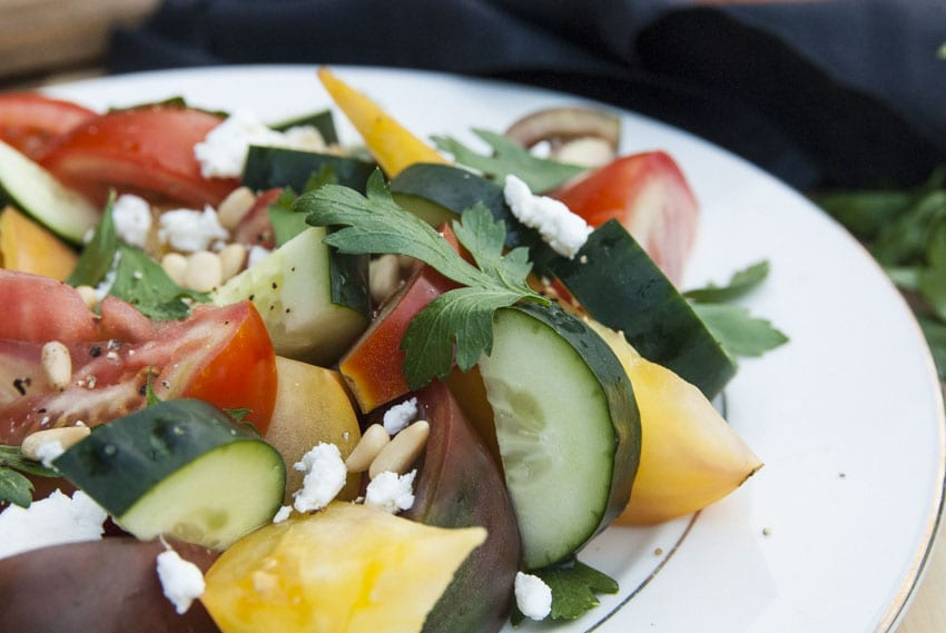 Summer Heirloom Tomato Salad- The Seasonal Junkie