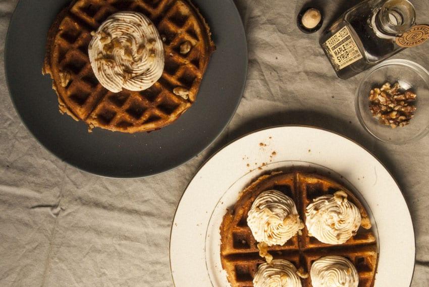 Carrot Cake Waffle-The Seasonal Junkie