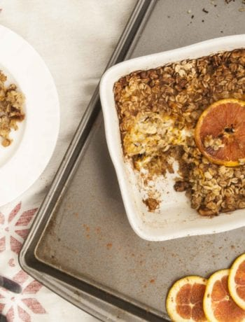 Cinnamon Orange Baked Oats Recipe- The Seasonal Junkie