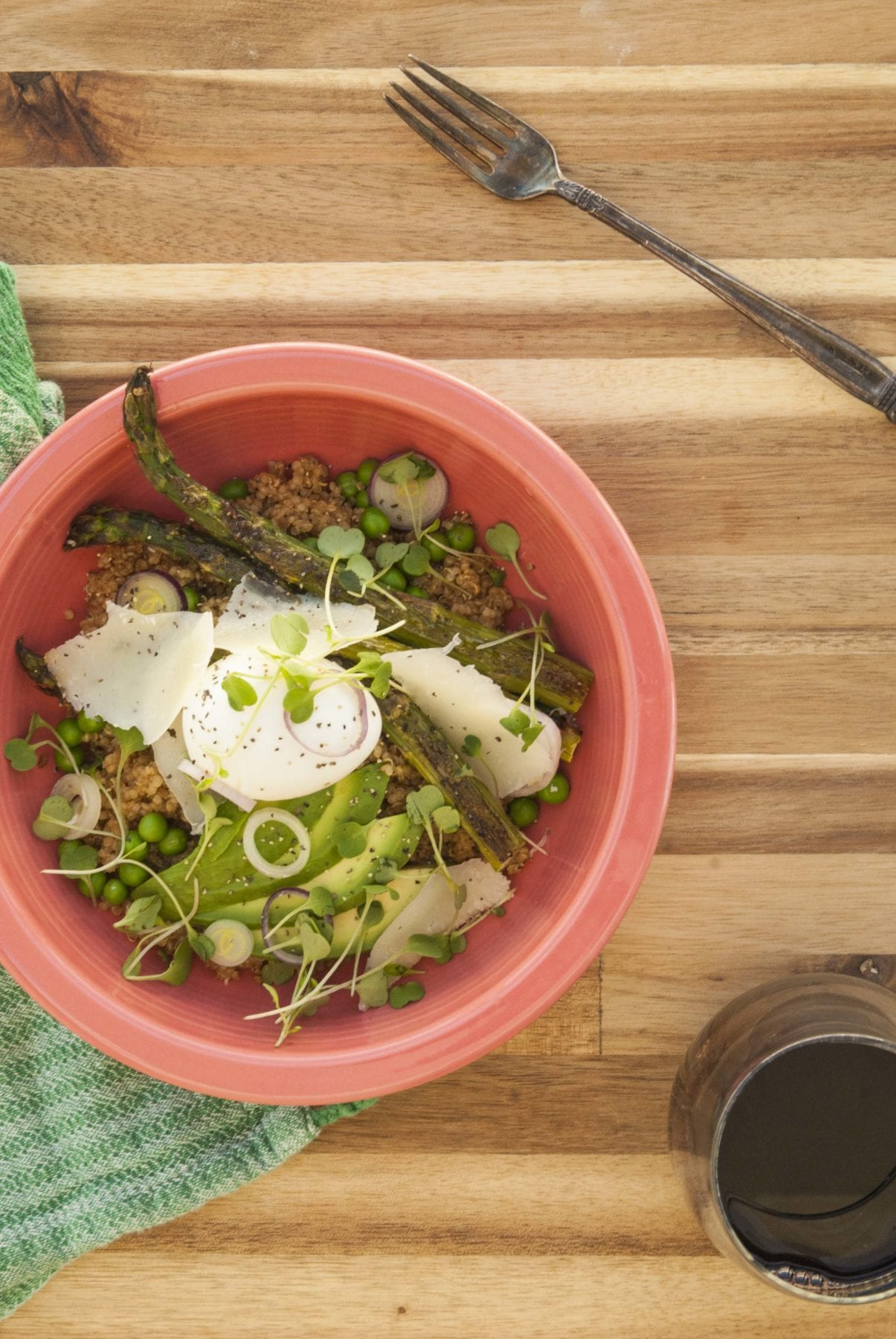 Spring Quinoa Salad- The Seasonal Junkie