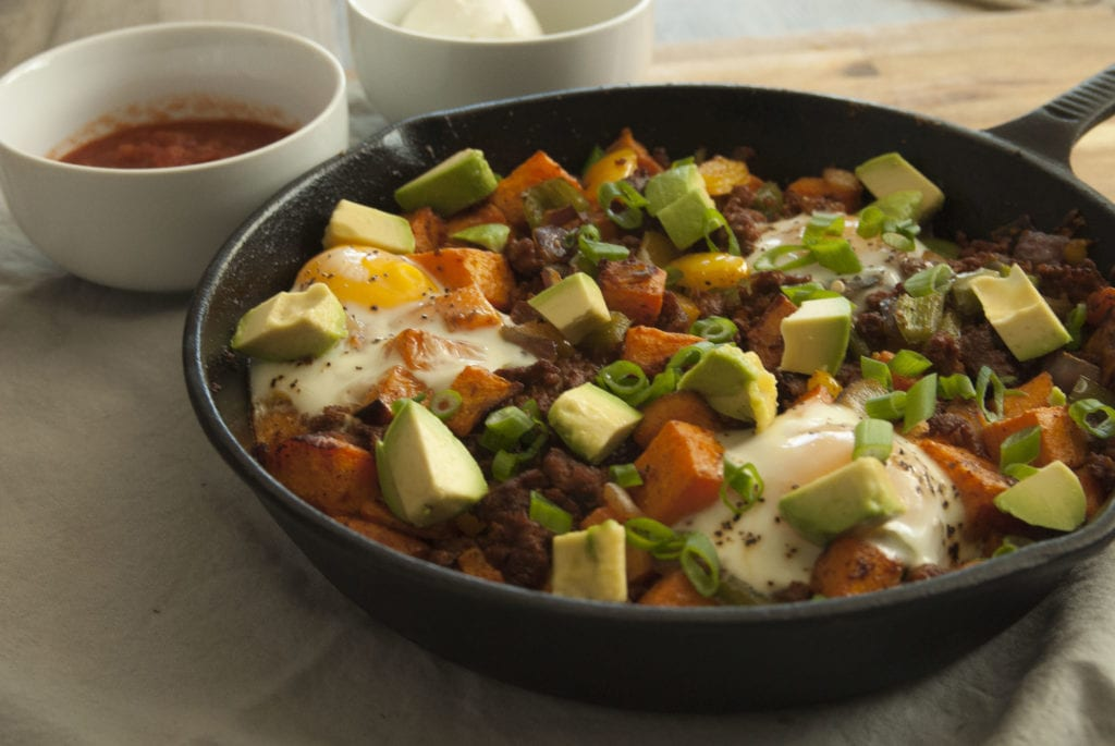Sweet Potato Chorizo Hash- The Seasonal Junkie