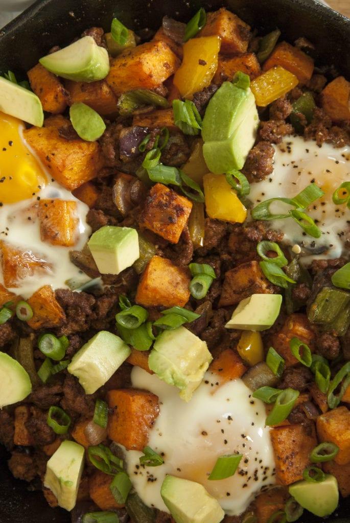 Sweet Potato Chorizo Hash- The Seasonal Junkie