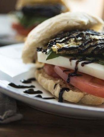 Caprese Sandwich- The Seasonal Junkie