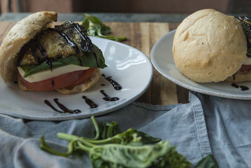 Caprese Sandwich- The Seasonal Junkie