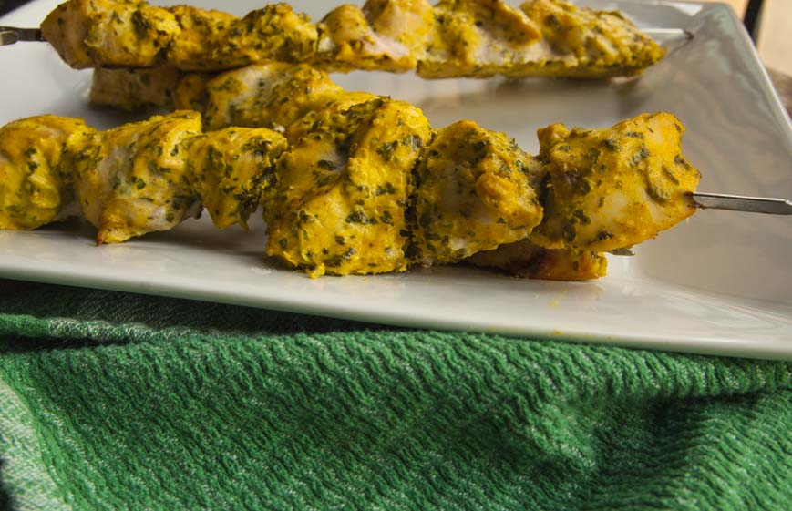 Turmeric Yogurt Marinated Chicken Skewers-The Seasonal Junkie