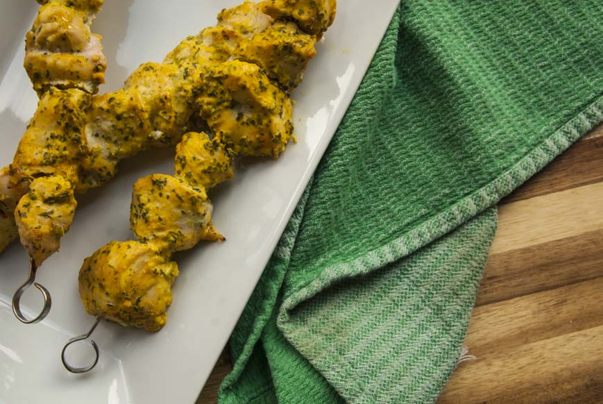 Turmeric Yogurt Marinated Chicken Skewers- The Seasonal Junkie