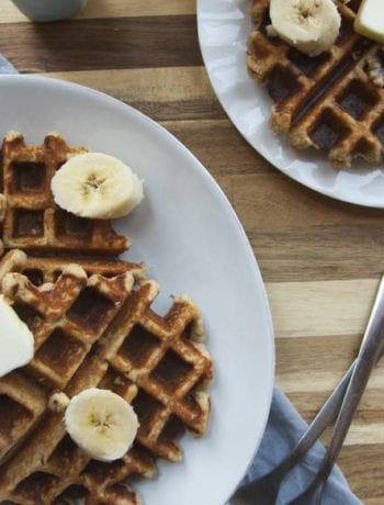 Banana Nut Waffles - The Seasonal Junkie