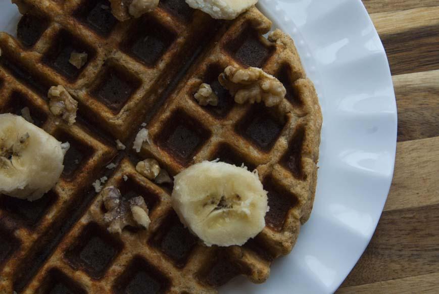 Banana Nut Waffles - The Seasonal Junkie