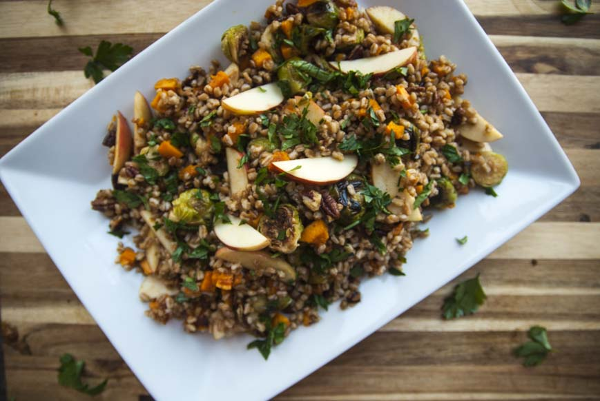 Fall Farro Salad- The Seasonal Junkie