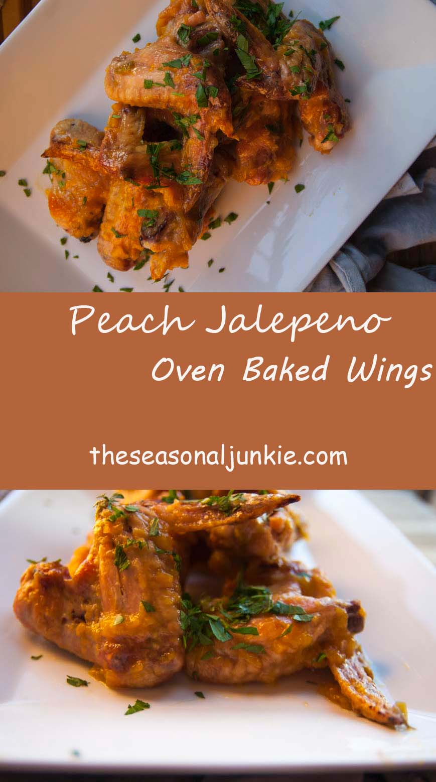 Peach Jalepeno Oven Baked Wings-The Seasonal Junkie