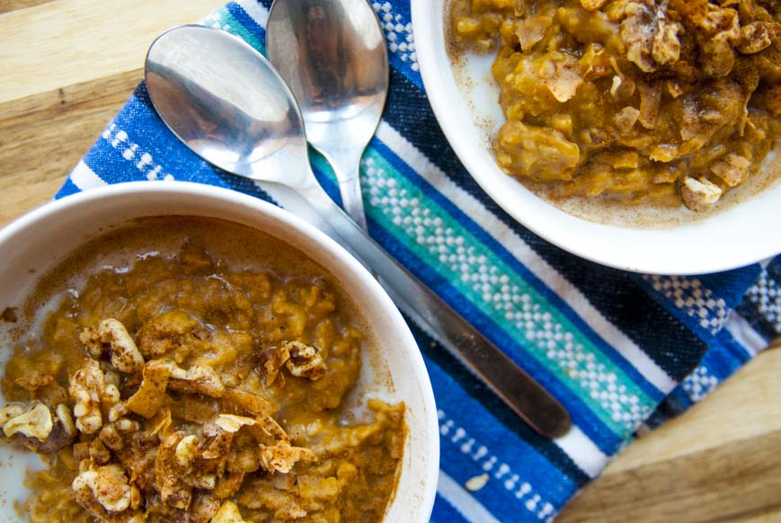Pumpkin Pie Oatmeal- The Seasonal Junkie