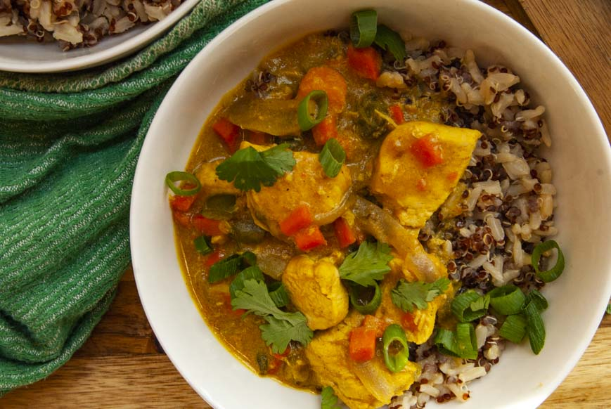 Chicken Coconut Curry- The Seasonal Junkie