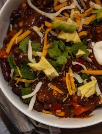 Sweet Potato Chili-The Seasonal Junkie