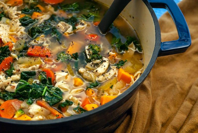 Detox Lemon Chicken Soup- The Seasonal Junkie