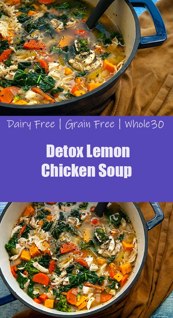 Detox Lemon Chicken Soup- The Seasonal Junkie