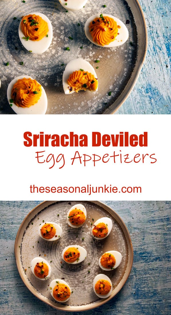Sriracha Deviled Egg Appetizers-The Seasonal Junkie