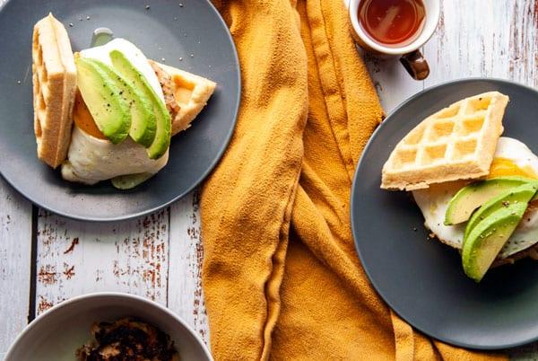 Paleo Waffle Breakfast Sandwich- The Seasonal Junkie