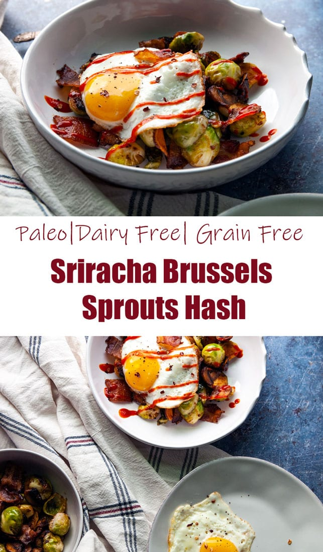 Sriracha Brussels Sprouts Hash-The Seasonal Junkie