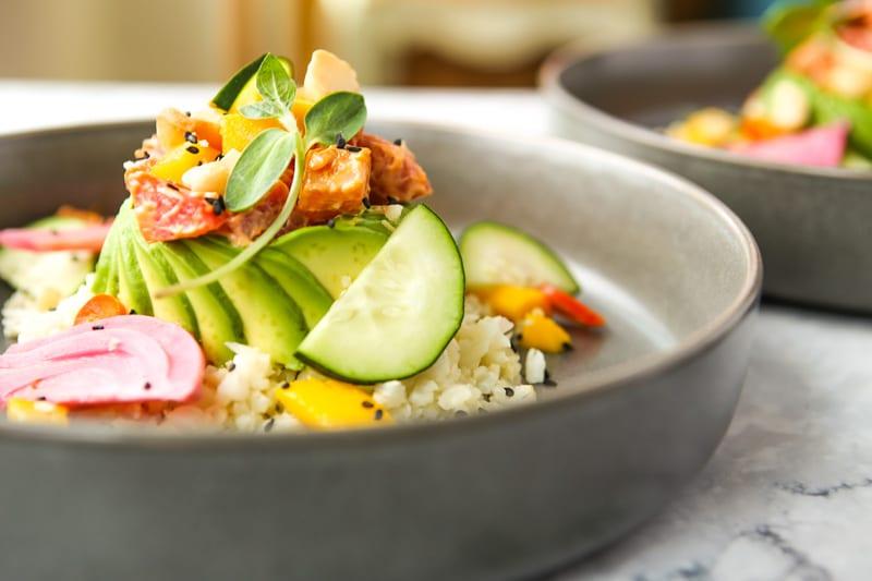 Vegan Poke Bowl with Chili Aioli-The Seasonal Junkie