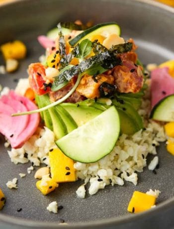 Vegan Poke Bowl with Chili Aioli-The Seasonal Junkie
