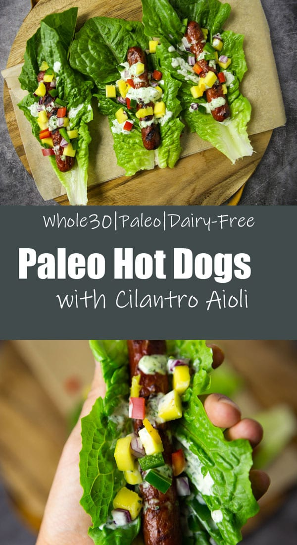 Paleo Hot Dogs with Cilantro Aioli- The Seasonal Junkie