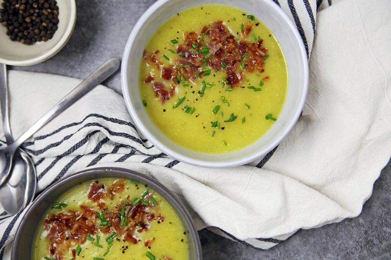 Yukon Gold Potato Soup- The Seasonal Junkie