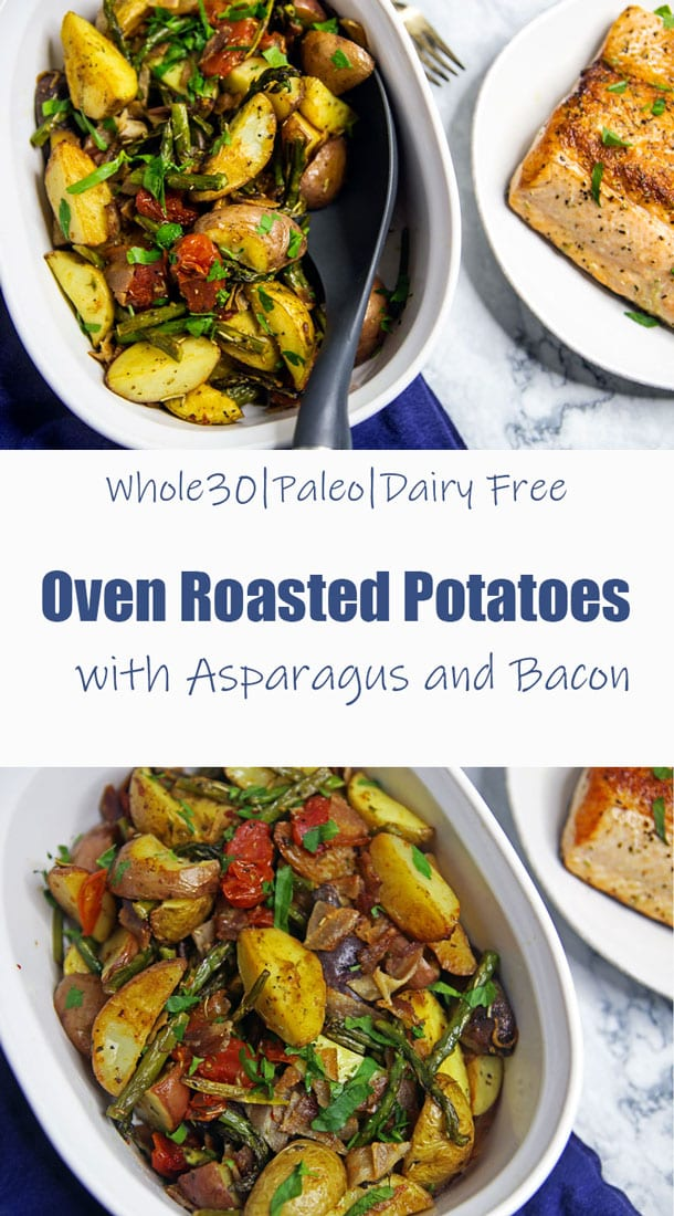 Oven Roasted Potatoes with Asparagus and Bacon