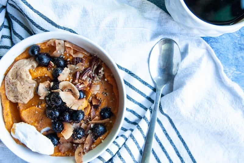 Sweet Potato Breakfast Bowl- The Seasonal Junkie