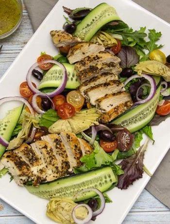 Whole30 Greek Salad- The Seasonal Junkie