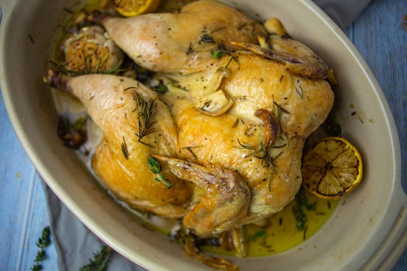 40 Clove Garlic Chicken- The Seasonal Junkie