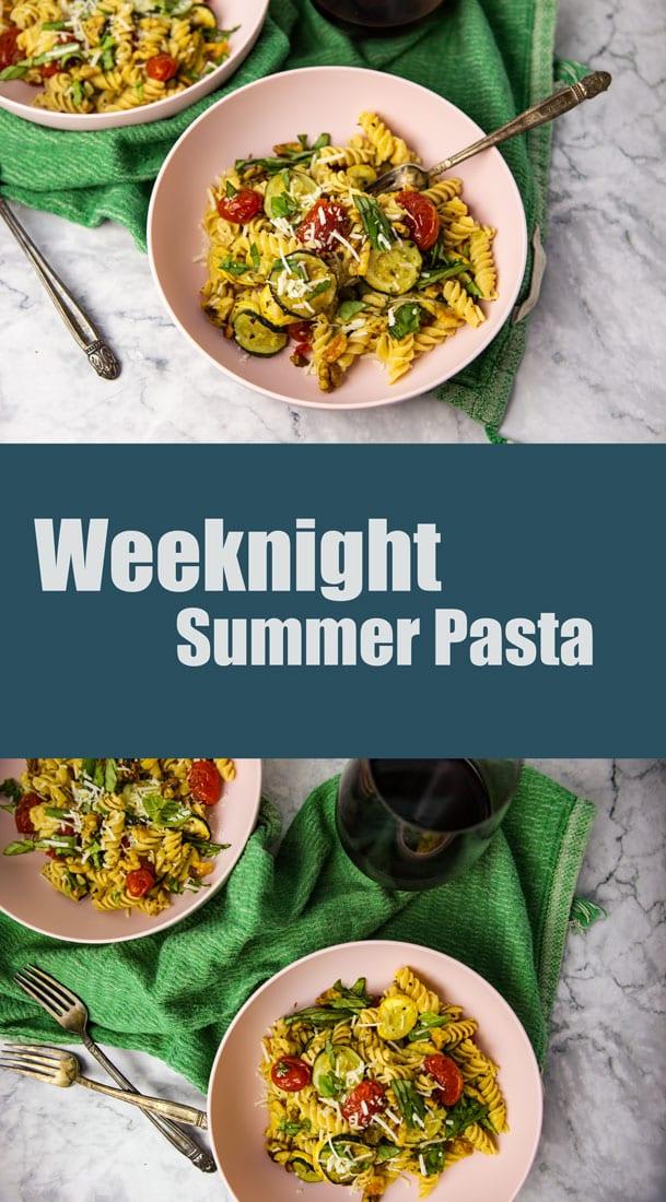 Pinterest Weeknight Summer Pasta