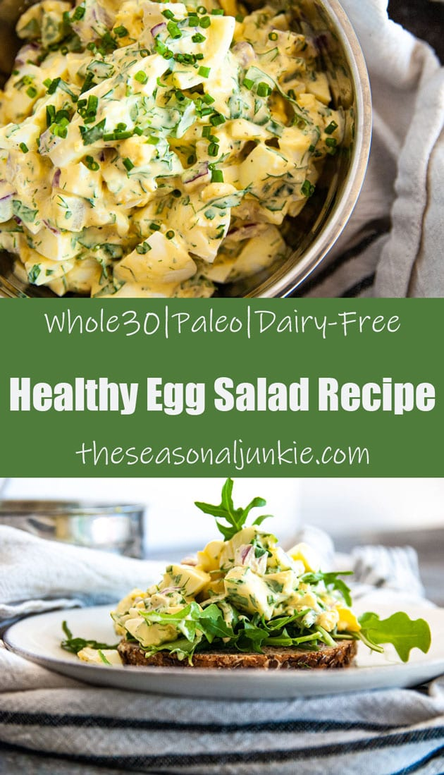 Pinterest Photo for Healthy Egg Salad Recipe