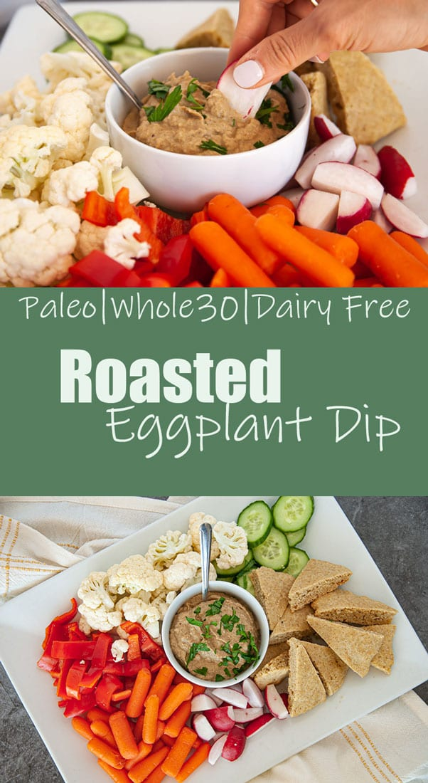 Pinterest photo for Roasted Eggplant dip