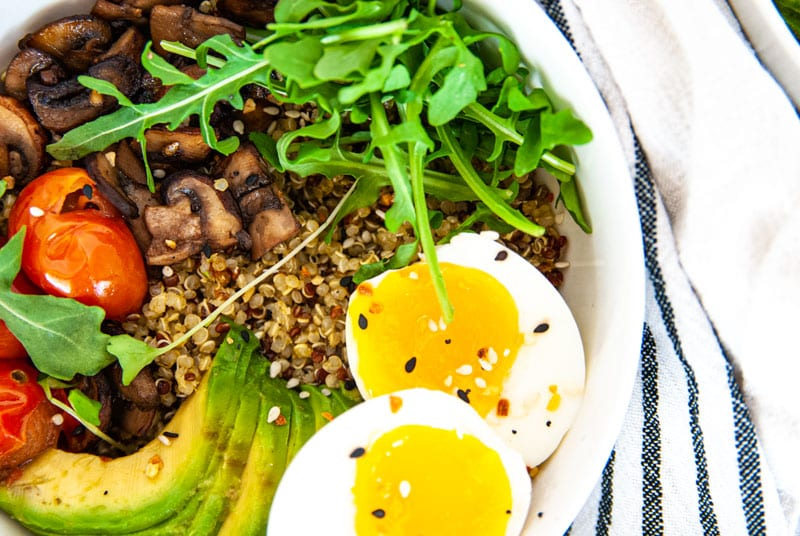 Close up of breakfast bowl