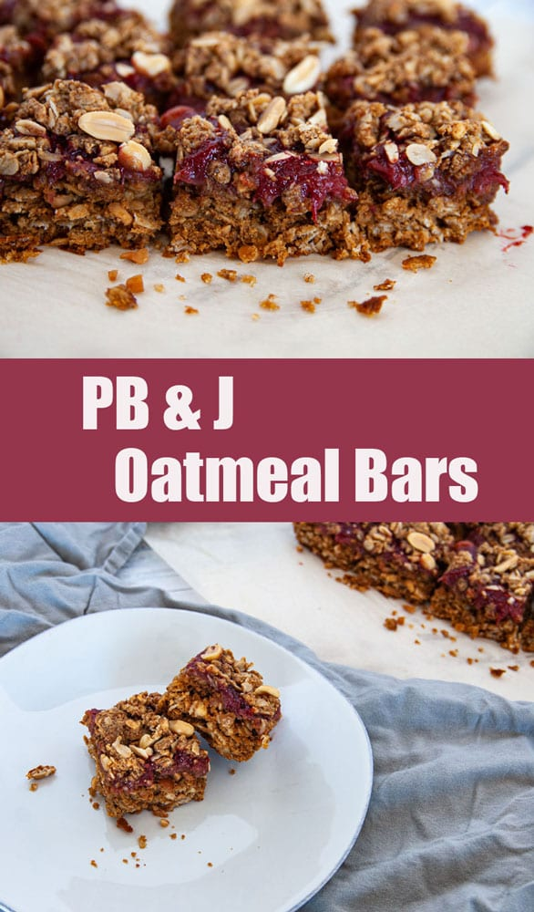 Pinterest Photo for PB & J Oatmeal Bars