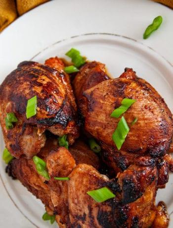Overhead shot of Hot Honey Chicken Recipe