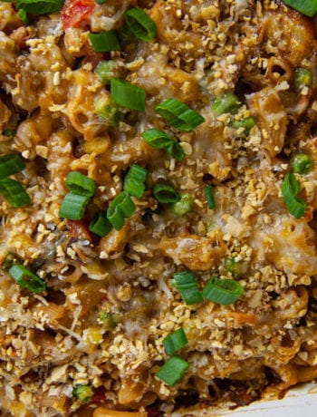 Close up of Tuna Noodle Casserole