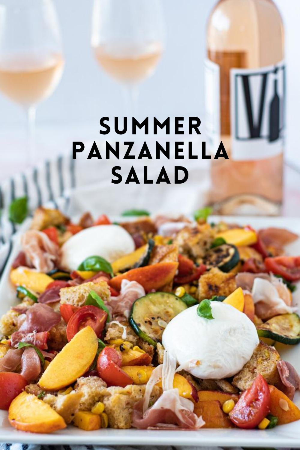 Summer Panzanella Salad with Homemade Croutons- The Seasonal Junkie- The Seasonal Junkie