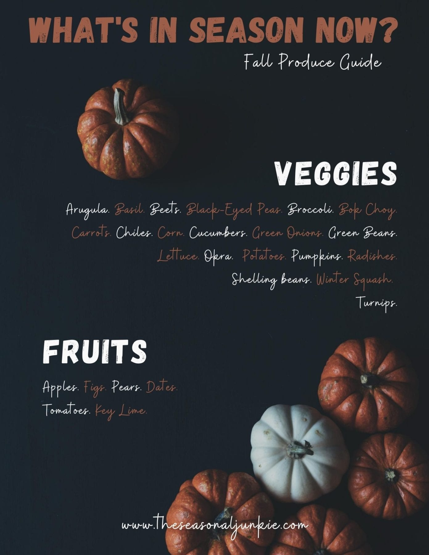Produce list for what is in season now